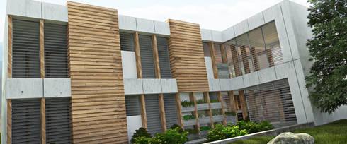 AREA DE AMPLIACION: Casas de estilo minimalista por Arq.AngelMedina+