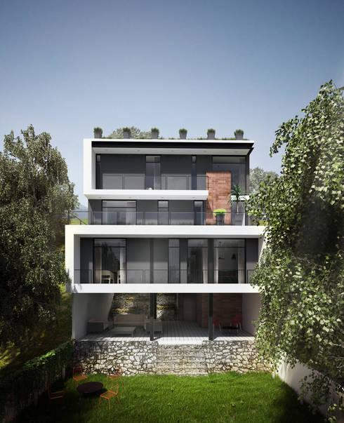 Casa en Real de Juriquilla : Casas de estilo moderno por ORTHER Architects