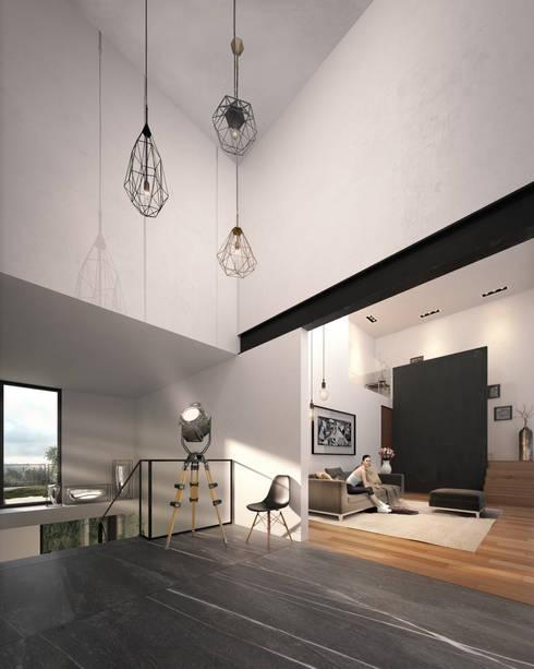 Interiorismo: Pasillos y recibidores de estilo  por ORTHER Architects
