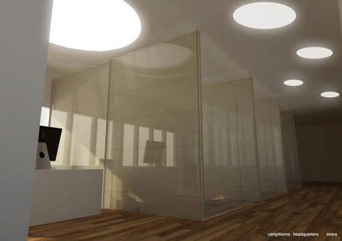 Campifarma HQ: Escritórios  por nn.arq | arquitectos