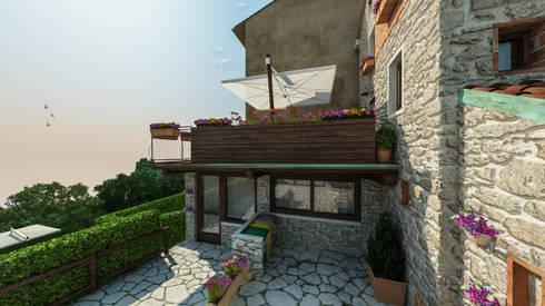 Casa in collina di studiosagitair homify for Piani di casa contemporanea in collina