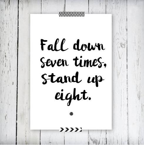 Poster *Fall Down: Arte  por Oi! Xica