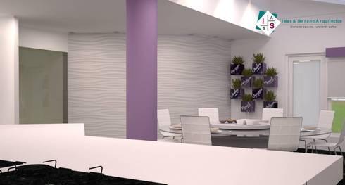 Propuesta 1: Cocinas de estilo moderno por ISLAS & SERRANO ARQUITECTOS