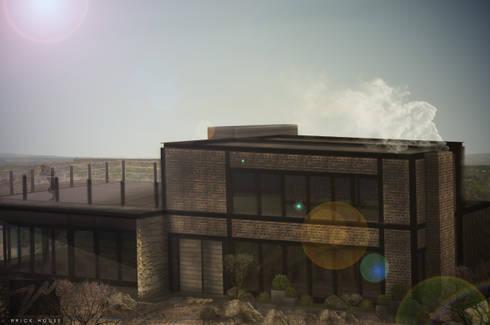 Brick House : Casas de estilo mediterraneo por ZUM ARQUITECTURA