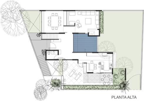 PLANTA ALTA: Casas de estilo moderno por 75 Arquitectura