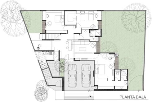 PLANTA BAJA: Casas de estilo moderno por 75 Arquitectura