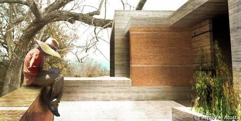 PORTICO: Terrazas de estilo  por 75 Arquitectura