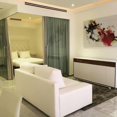 Livingroom : Salas de estilo minimalista por DECO designers