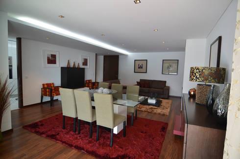 Altavista 9: Salas de jantar minimalistas por BLK-Porto Arquitectura