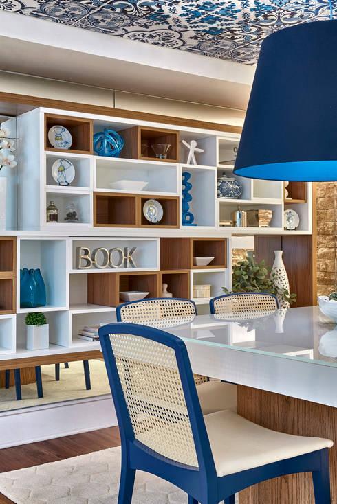 Mostra Líder Interiores 2015: Salas de jantar modernas por Emmilia Cardoso Designers Associados
