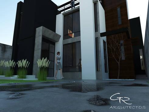 House Jc-1 : Casas de estilo minimalista por GT-R Arquitectos