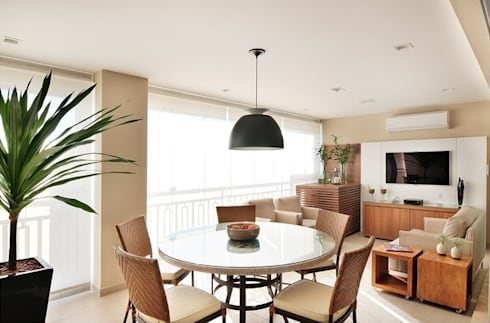 Varanda Gourmet - Estar: Terraços  por Madi Arquitetura e Design
