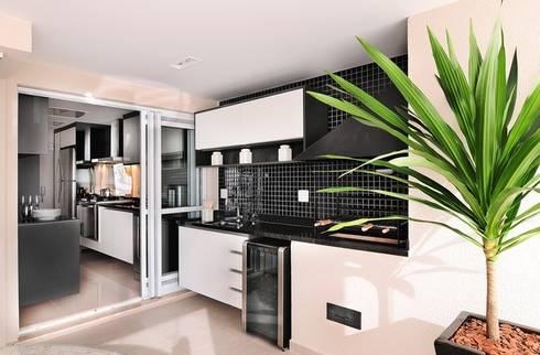 Varanda Goumet - Churrasqueira: Terraços  por Madi Arquitetura e Design