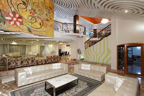 Residential Interior for Mrs. Banalari: eclectic Living room by Purple Architecture