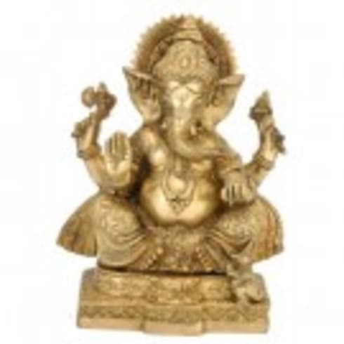 Brass Ganesha Idol:  Artwork by Alyth Creations