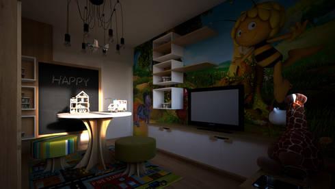 Play Room: Quartos de criança minimalistas por Mdimension