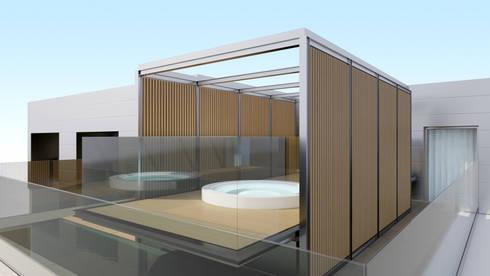 Mini_Piscina_Luanda: Piscinas modernas por GRF Metal Design