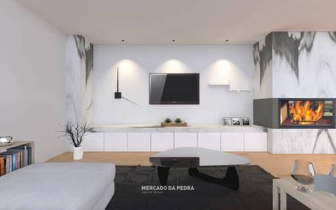 3D Visualization of the project: Salas de estar clássicas por Mercado da Pedra