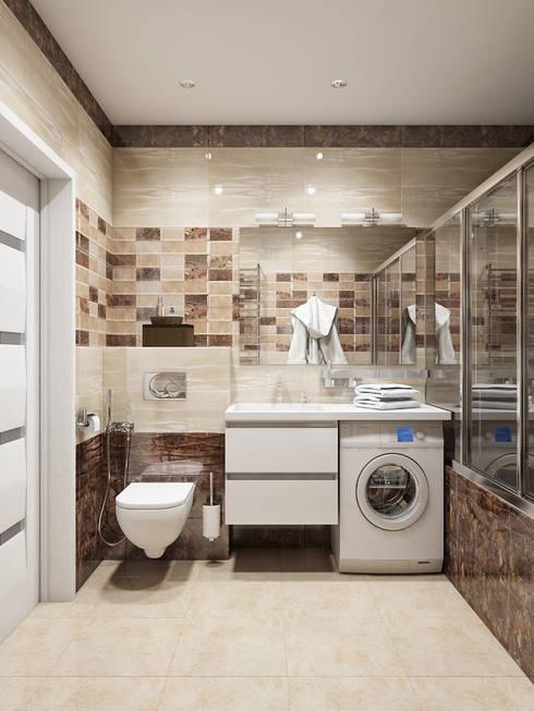 Интерьер санузла: Ванные комнаты в . Автор – Tatiana Zaitseva Design Studio