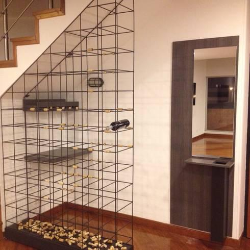 Apto 98: Salas de estilo moderno por DNA ARQUITECTURA Y DISEÑO