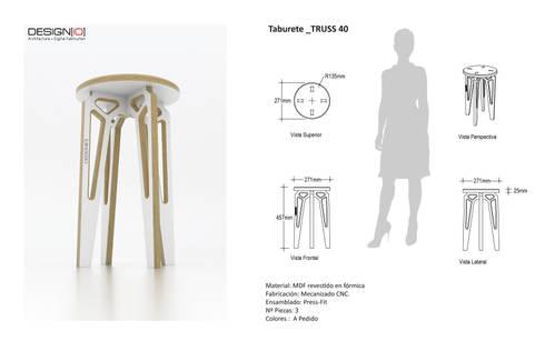 Taburete TRUSS_40: Salas/Recibidores de estilo industrial por DESIGNIO | Fab Studio