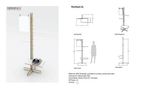 Perchero Truss: Salas/Recibidores de estilo industrial por DESIGNIO | Fab Studio