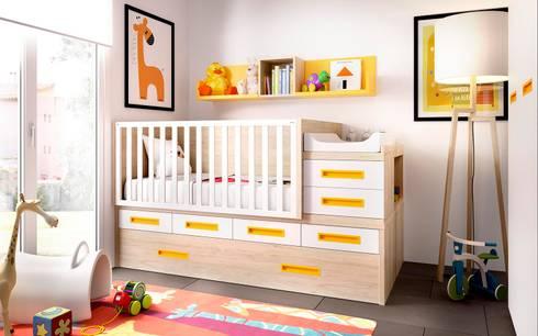 Mobiliário para bebé transformável em quarto de criança: Quarto de crianças  por o quarto dos miúdos