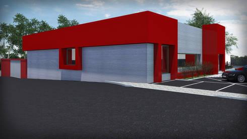 Loja de Materiais de Construção: Espaços comerciais  por Luís Candeias, arquitecto