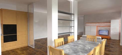 Casa privata - Loft a Milano: Sala da pranzo in stile in stile Moderno di Studio Arch. Matteo Calvi