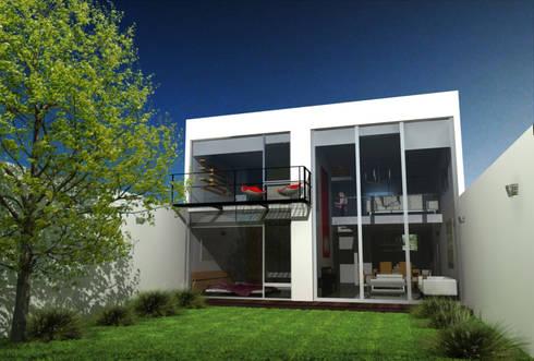 CaSA LINDA VISTA Design Process: Jardines de estilo moderno por CoRREA Arquitectos