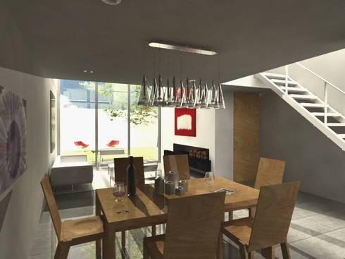 CaSA LINDA VISTA Design Process: Comedores de estilo moderno por CoRREA Arquitectos