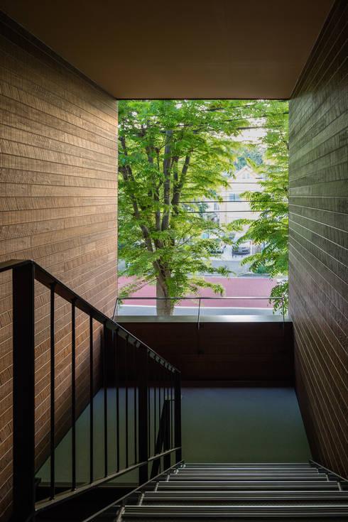 階段: 内田雄介設計室 が手掛けた廊下 & 玄関です。