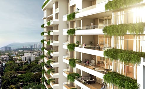 HYDE PARK TOWER,  BIBBEWADI, PUNE: modern Houses by Chaney Architects