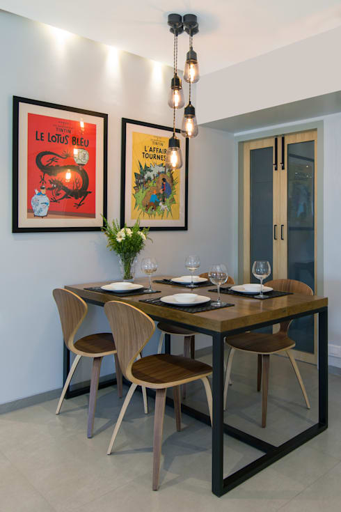Residential - Lower Parel:  Dining room by Nitido Interior design