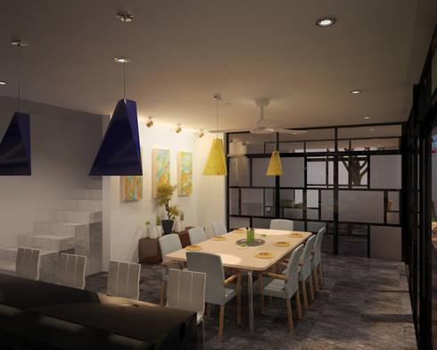 CASA P+A: Comedores de estilo moderno por ANGOLO-grado arquitectónico