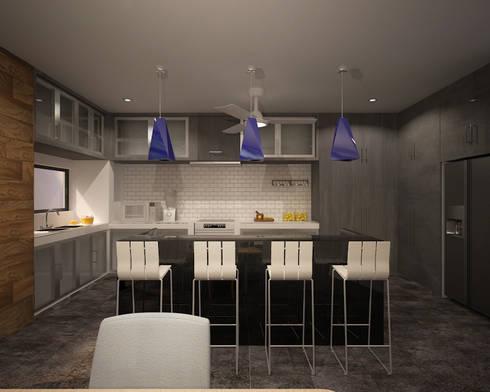CASA P+A: Cocinas de estilo moderno por ANGOLO-grado arquitectónico