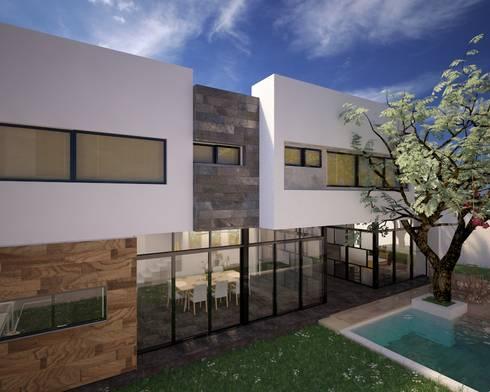 CASA P+A: Casas de estilo moderno por ANGOLO-grado arquitectónico