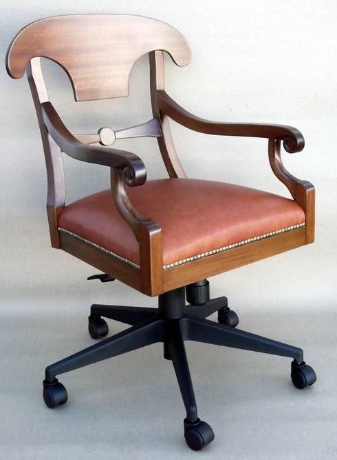 Poltrona Bieder Office: Escritório e loja  por A Arte em Cadeiras Ltda