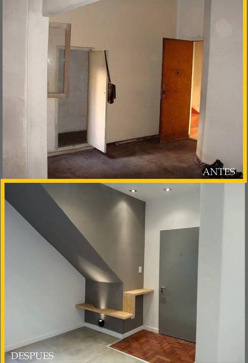Reforma integral de departamento (Ramos Mejía):  de estilo  por Somos Arquitectura