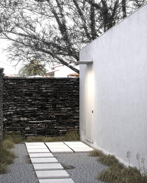 Exterior - Entrada: Casas minimalistas por Varq.