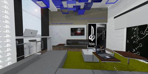 Sala de Juntas Sony: Estudios y oficinas de estilo moderno por ARCO Arquitectura Contemporánea