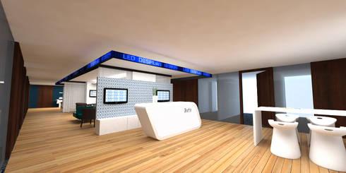 Roche: Estudios y oficinas de estilo moderno por ARCO Arquitectura Contemporánea