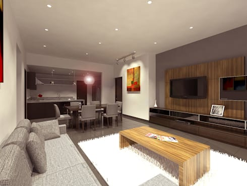 Cenit 2: Salas multimedia de estilo moderno por ARCO Arquitectura Contemporánea