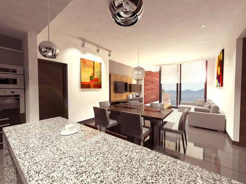 Cenit 2: Comedores de estilo moderno por ARCO Arquitectura Contemporánea