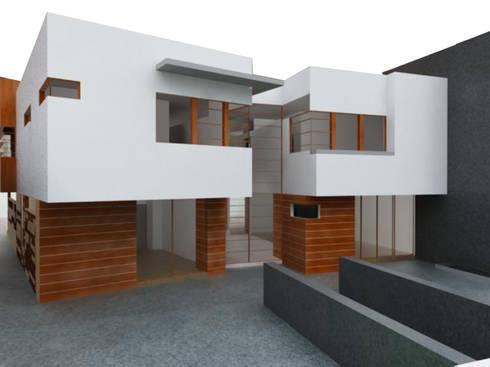 Casa Atlamaya : Casas de estilo moderno por ARCO Arquitectura Contemporánea