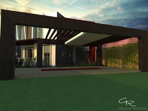 House Paraíso: Garajes de estilo moderno por GT-R Arquitectos