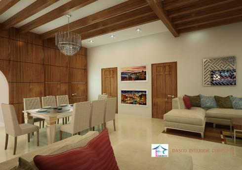 Villa Interior Design:   by SHEEVIA  INTERIOR CONCEPTS