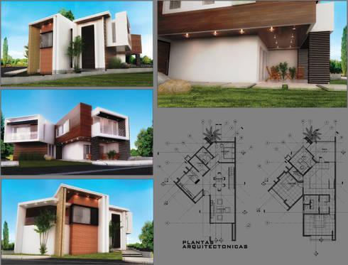 LAMINA DE PRESENTACIÓN HOUSE ANGELO: Casas de estilo moderno por PROYECTARQ   ARQUITECTOS