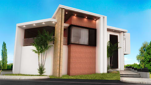 VISTA GENIAL: Casas de estilo moderno por PROYECTARQ   ARQUITECTOS