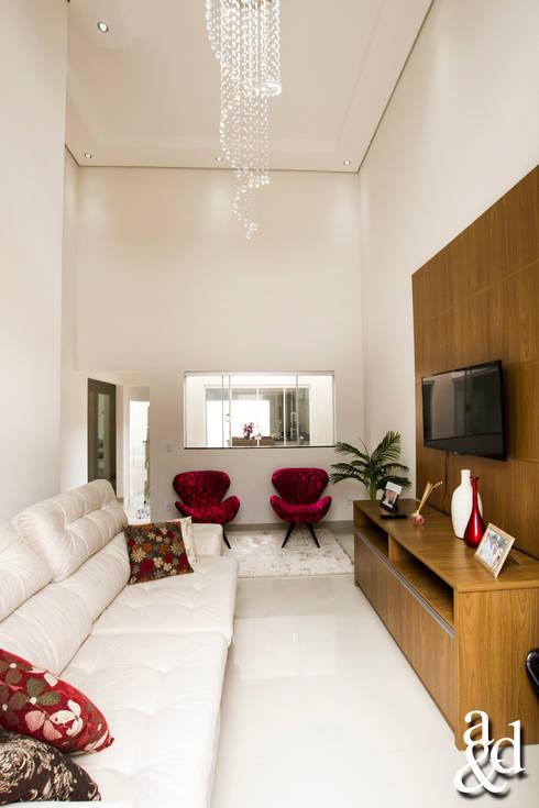 غرفة المعيشة تنفيذ Arch & Design Studio